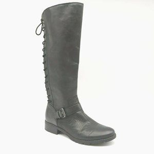 Sofft Knee High Back LaceUp Riding Boot 6.5 New